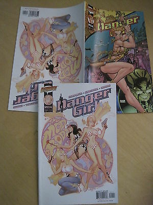 DANGER GIRL : FLIP BOOK SPECIAL 40pg issue by HARTNELL,CAMPBELL e.WILDSTORM.2000