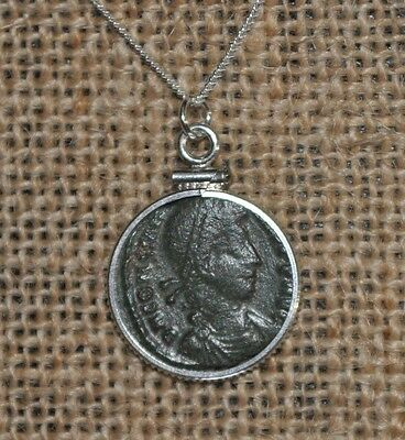 Constantine the Great House Constantius II Authentic Coin 925 Sterling Necklace