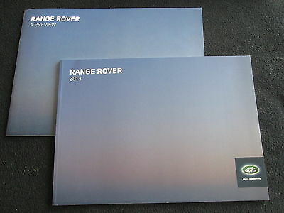 2013 Land Rover Sales Catalog Set Range Rover Introduction & World Brochure