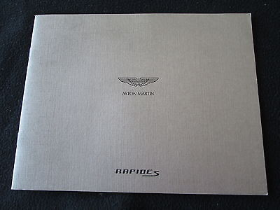 2013 Aston Martin Rapide S Brochure Detailed Sales Catalog Volcano Red / Frost