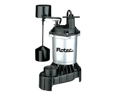 Flotec Submersible Thermoplastic Sump Pump 1/3 HP #FPZS33V
