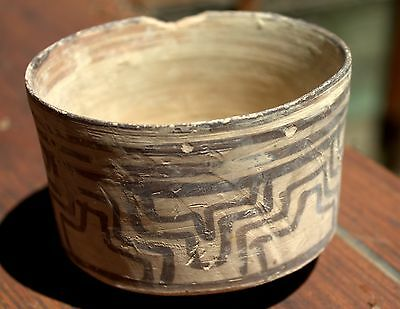1500 BC Artifact Painted Pottery Bowl Vase Bronze Age Artifact Time Of Moses!