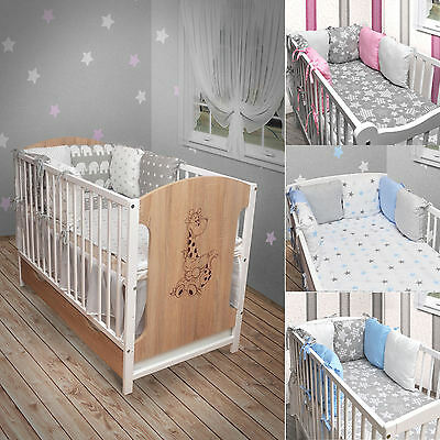 babybett kinderbett wei grau bettset neu matratze schublade 120x60 giraffe eur 173 95. Black Bedroom Furniture Sets. Home Design Ideas