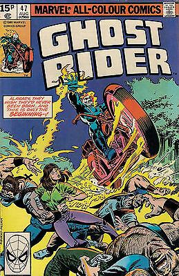 GHOST RIDER #47<>MARVEL COMICS<>MICHAEL FLEISHER / DON PERLIN<>1980<>f(6.0) ~~