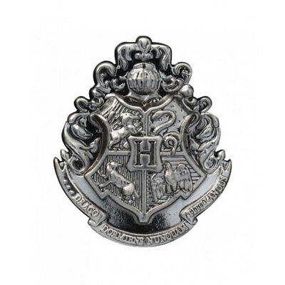 Harry Potter Hogwarts School Crest Logo Pewter Metal Lapel Pin, NEW UNUSED
