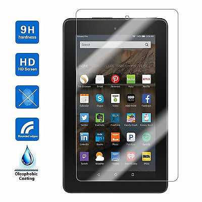 For Amazon Kindle Fire HD 7 2017 7th Gen Tempered Glass Screen Protector
