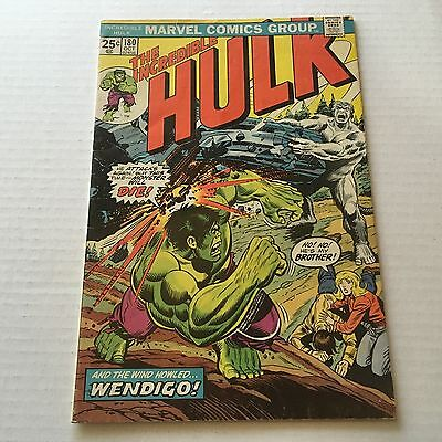 INCREDIBLE HULK #180 Marvel Bronze Age w/Stamp 1st Appearance WOLVERINE F+ #B1
