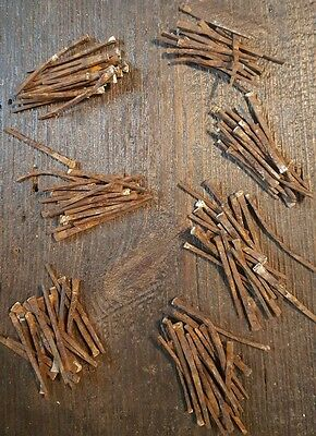 """Vintage 1890's Handmade Square Nails - 140 pieces  Various sizes 2"""" - 3"""""""