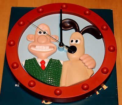Wallace And Gromit Wall Clock Aardman A Grand Day Out Mib  Rare 1989 First Clock