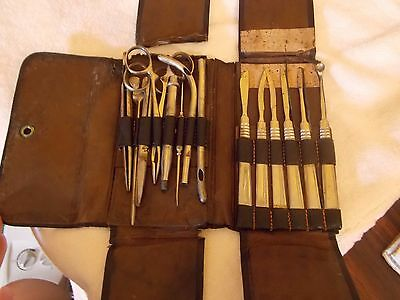 Antique Physician's Medical Tools/ Instruments And Case Circa 1890