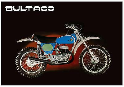 BULTACO Poster Pursang 360 250 Mk8 1974 1975 1976 Classic VMX Suitable to Frame