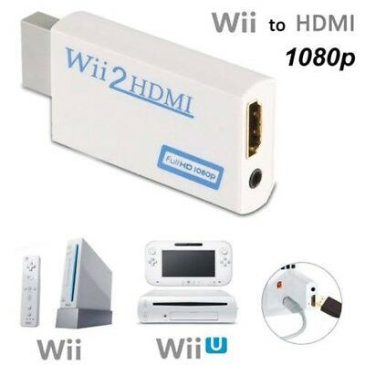 Wii To HDMI Converter Adapter Full HD 1080P Video HDMI 3.5mm AV Multi Out Plug