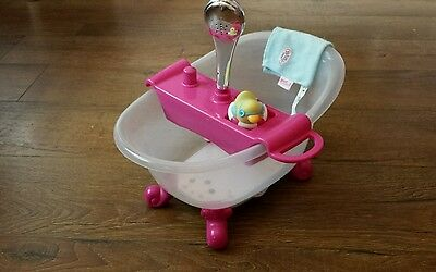 baby born doll 163 4 99 picclick uk original baby born bath with working shower ryde