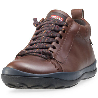 Camper Peu Goretex Mens Brown Leather Casual Chukka Boots Lace-up New Style