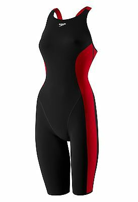 New Swimsuit Speedo Power Plus Kneeskin Black Select Accent Color FINA Aprroved