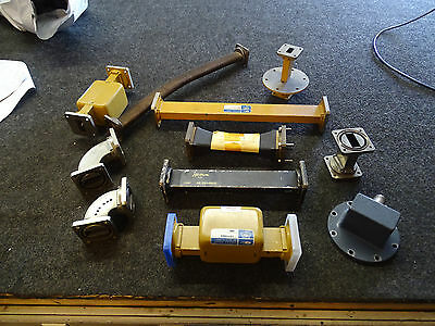 Lot of 10 WR112 Waveguides Elbow Straight Flex Isolator Systron Airtron