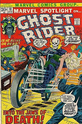 MARVEL SPOTLIGHT #10<>GHOST RIDER<>1973<>fine+ condition