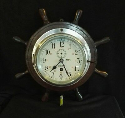 Antique Working Alloy Cased Dutch Ships Clock Maker N.V.Observator Circa 1920's