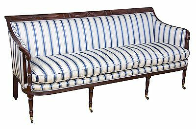 SWC-Classical / Federal / Sheraton Carved Mahogany Phyfe Sofa, New York, c.1810