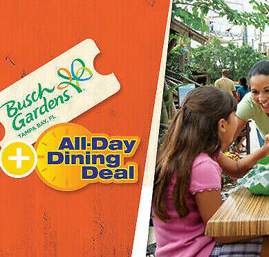 Busch Gardens Tampa Ticket & All Day Dine $89 A Promo Discount Savings Tool