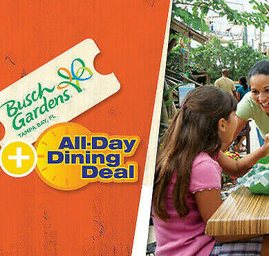 Busch Gardens Tampa Ticket &Free All Day Dine $89 Promo Discount Tool
