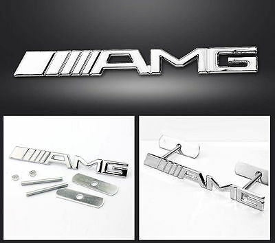 ☆ Logo  Amg Mercedes  Calandre Front Grill - Chrome ☆