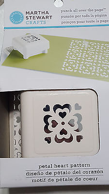 NEW Martha Stewart PETAL HEART PATTERN Punch All Over The Page Crafting