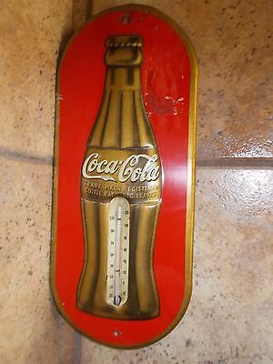 Dec 25th, 1923 COCA-COLA Tin lithographed Thermometer wall plaque-scarce