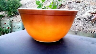 PYREX OLD ORCHARD Nesting Mixing Bowl #402, Brown Two-Tone 1.5 Quart ...