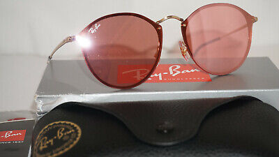 7f2ef81ad6 RAY-BAN Sunglasses New BLAZE ROUND Gold Pink Mirror RB3574N 001 E4 59 145