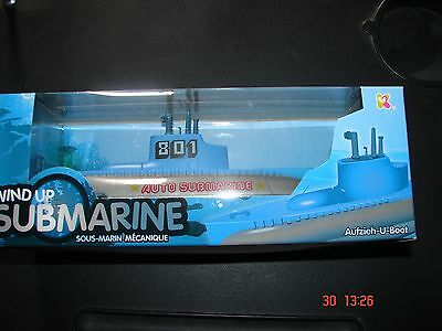 WIND UP TOY SUBMARINE  x 2  christmas gift stocking filler  bath toy