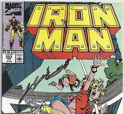 Marvel Comics IRON MAN #253 in Carnival of Death from Feb. 1990 in Fine con. DM