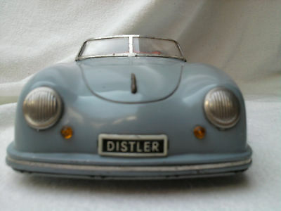 Distler Porsche 356 Electromatic 7500 GRAU! alte Version Blechauto  tin toy
