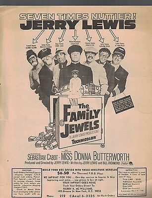 Jerry Lewis The Family Jewels Ad Herald 1960s