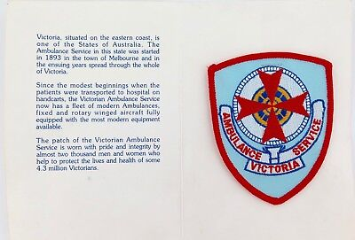 Victoria Ambulance Service Large Patch In Booklet. #1