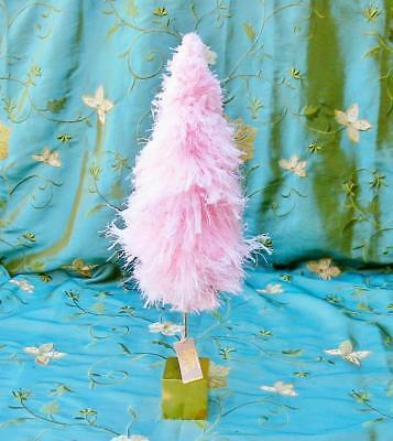 Glitterville Christmas Fluffy Sorbet Tree Pastel Pink 18 inch
