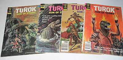 Turok Son Of Stone 4 Gold Key/whitman Comics 94 97 110 113 1974-1978