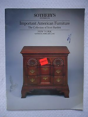 Sotheby's New York #5286 Important American Furniture Collection Scott Barlett