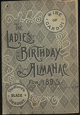 1895 Ladies Birthday Almanac-Adv. Cardui, Sommer's Drug Co. Quincy, Il.