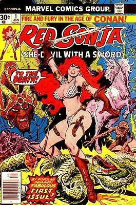 RED SONJA #1 VG/F, Conan spin-off, Frank Thorne A, Marvel Comics 1977