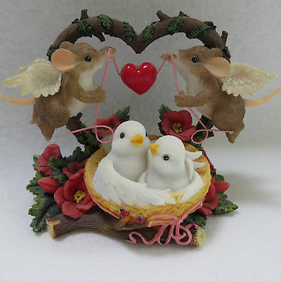 Charming Tails Together in Our Own Little Love Nest 84148 Fitz Floyd 2007 MIB