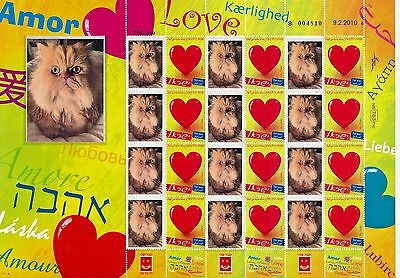 Israel 2017 Persian Cat Sheet  Mnh