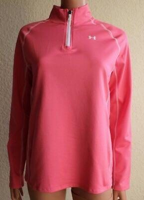 Under Armour Cold Gear Loose Pink Long Sleeve Shirt Girl's size YXL