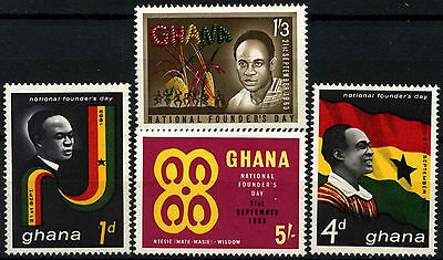Ghana 1963 SG#315-318 Founders Day MNH Set #D52729