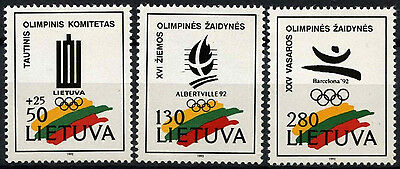 Lithuania 1992 SG#501-3 Winter Olympic Games MNH Set #D52921
