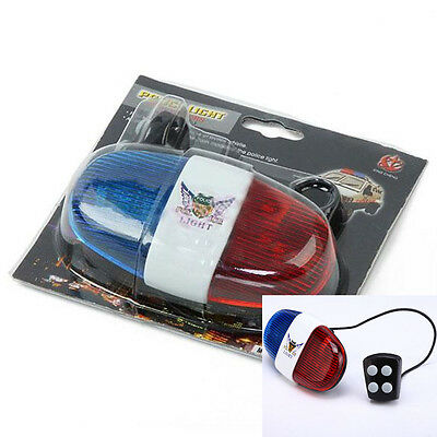 Hot Electronic Horn Siren 4Tone Sound Police Car Light Bicycle Bike Bell