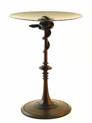 FERDINAND BARBEDIENNE SIGNED ANTIQUE 19thC FRENCH BRONZE SNAKE TAZZA CENTREPIECE