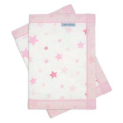 Airwrap Mesh Cot Protector - 4 Sided (Pink Stars) Crib/Cotbed Bumper, RRP £34.99