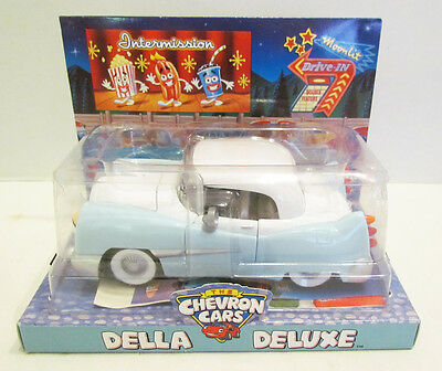 The Chevron Cars 2001 Della Deluxe Toy Car Mib Unused Advertising Mascot Gas Oil