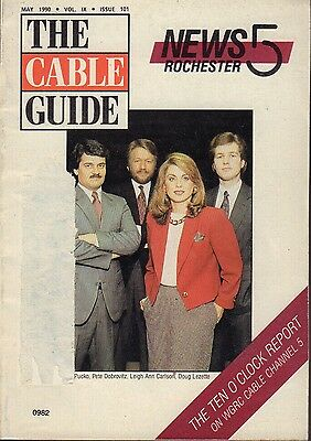 The Cable Guide Magazine May 1990 News 5 Rochester Doug Lezette 072017nonjhe